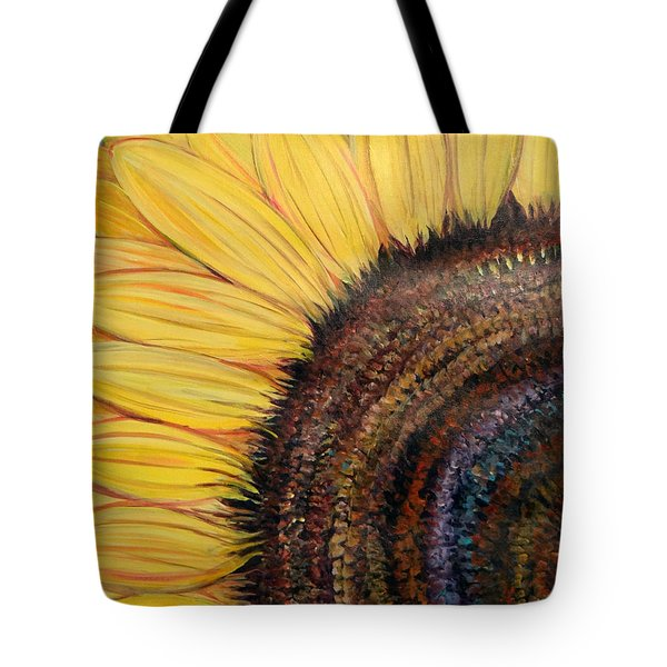 Anatomy Of A Sunflower Tote Bag