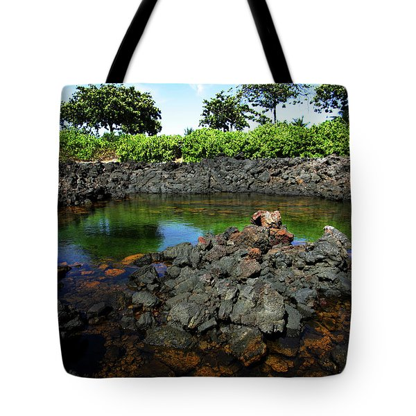 Tote Bag featuring the photograph Anchialine Pond by Anthony Jones
