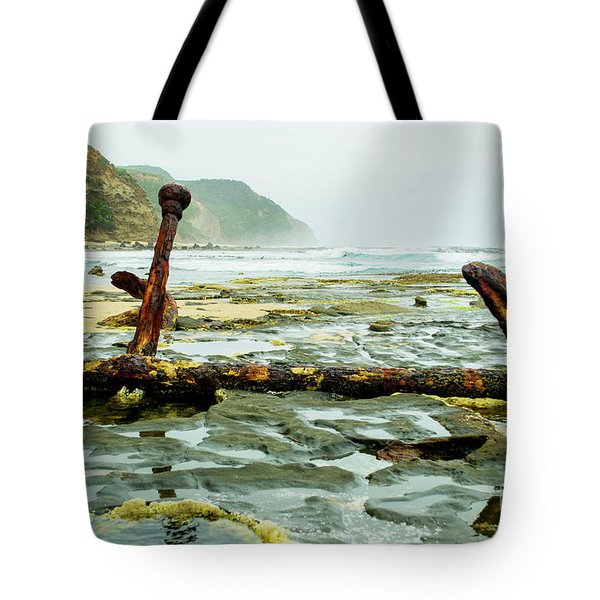 Tote Bag featuring the photograph Anchor At Rest by Angela DeFrias