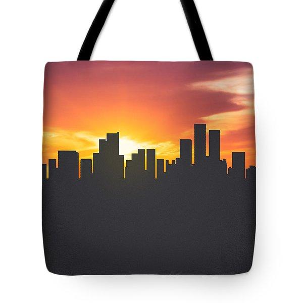 Anchorage Alaska Sunset Skyline 01 Tote Bag by Aged Pixel
