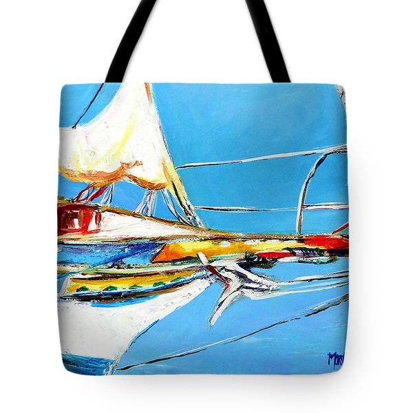 Anchored 2 Tote Bag by Marti Green