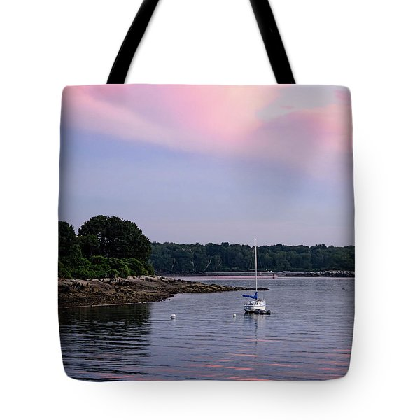 Anchored At Peaks Island, Maine  -07828 Tote Bag