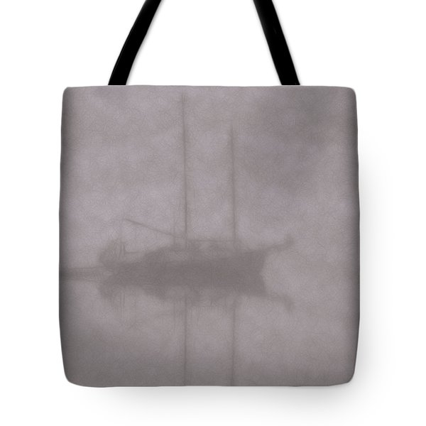 Anchored In Fog #1 Tote Bag by Wally Hampton
