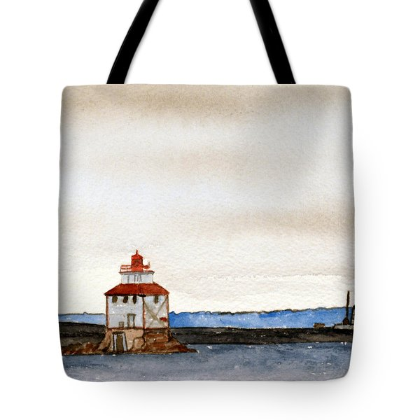 Anchored In The Bay Tote Bag by R Kyllo
