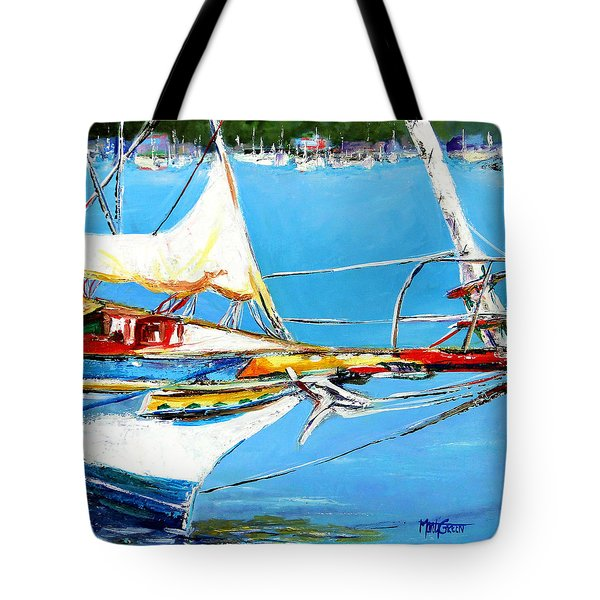 Tote Bag featuring the painting Anchored by Marti Green
