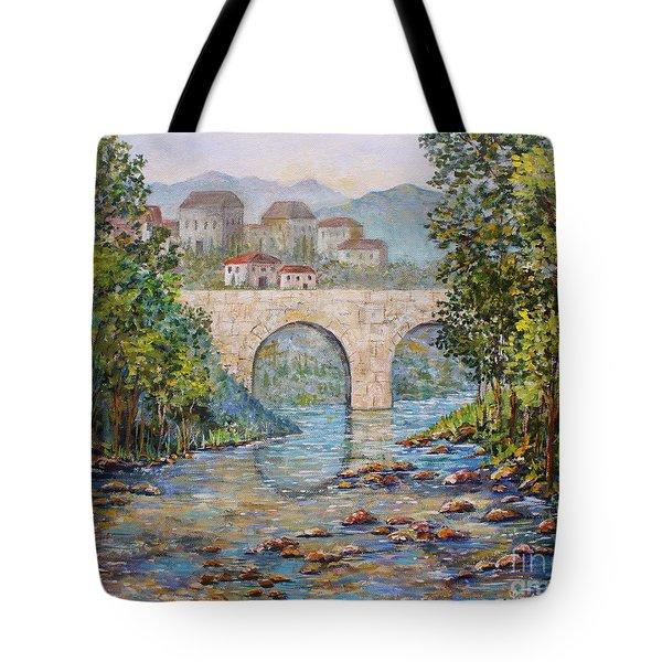Ancient Bridge Tote Bag by Lou Ann Bagnall