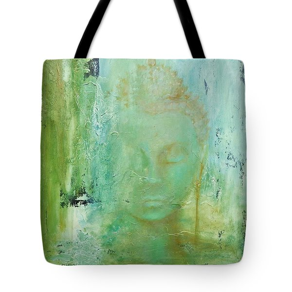 Tote Bag featuring the painting Ancient Buddha by Dina Dargo