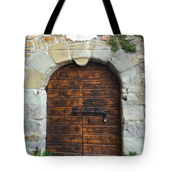 Ancient Castle Castel Door Trieste Tote Bag