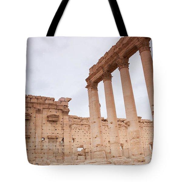Ancient City Of Palmyra Ruins Tote Bag