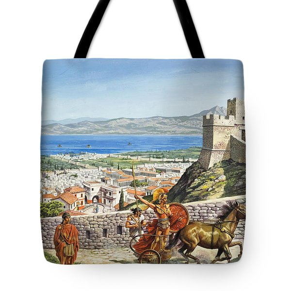Ancient Corinth Tote Bag by Roger Payne