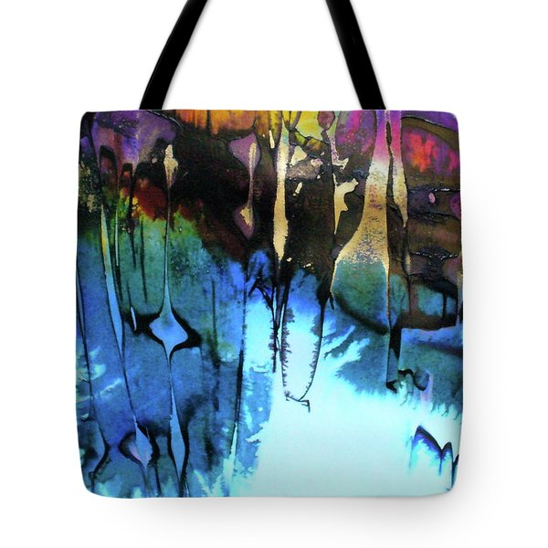 Tote Bag featuring the painting Ancient Echoes by Mary Sullivan