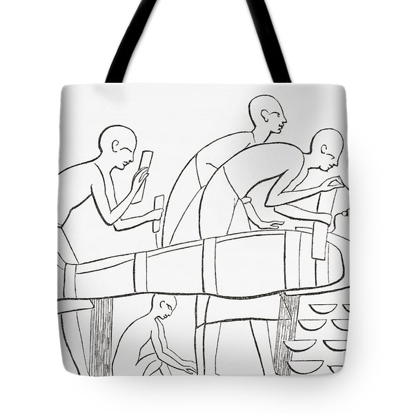 Ancient Egyptians Painting Tote Bag