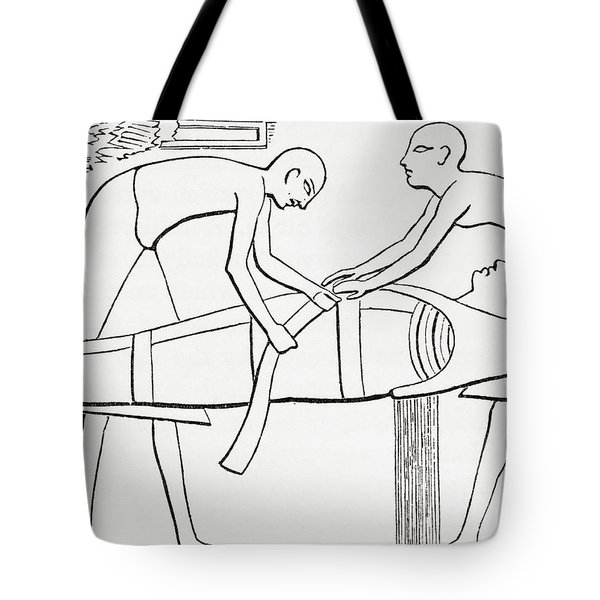 Ancient Egyptians Swathing Or Wrapping Tote Bag