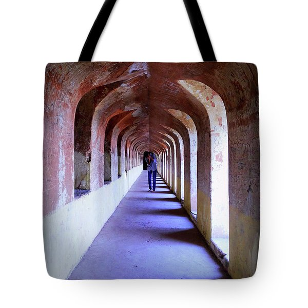 Ancient Gallery At Bada Imambara Tote Bag