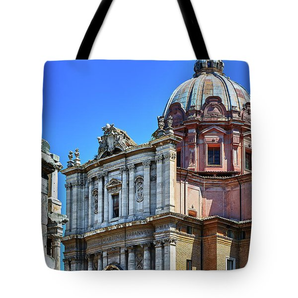 Tote Bag featuring the photograph Ancient Government Building At The Roman Forum by Eduardo Jose Accorinti