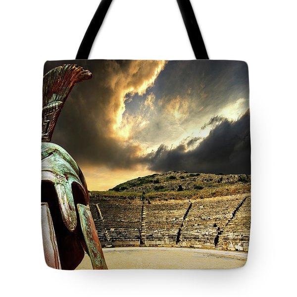 Ancient Greece Tote Bag by Meirion Matthias