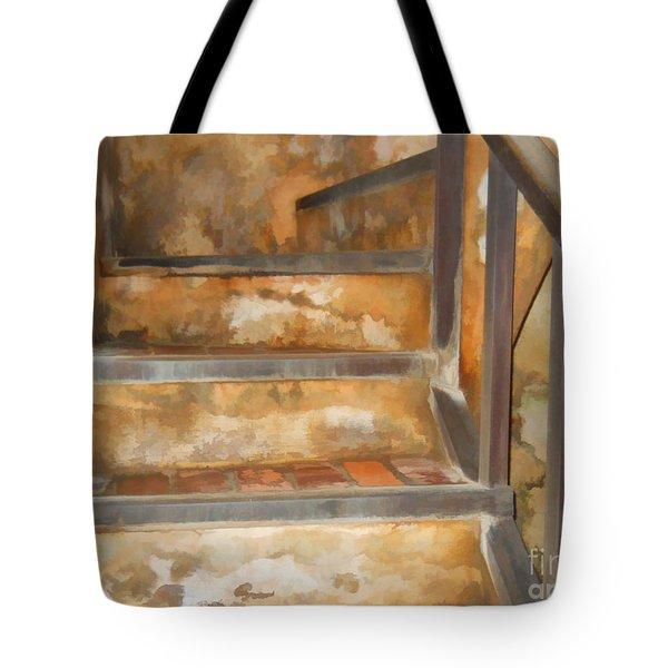 Ancient Stairway Tote Bag