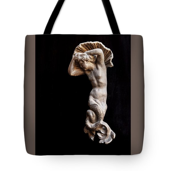 Ancient Statue Of The Virgin Of The Sea Tote Bag