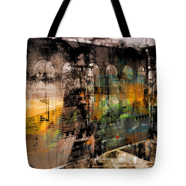Tote Bag featuring the digital art Ancient Stories by Art Di