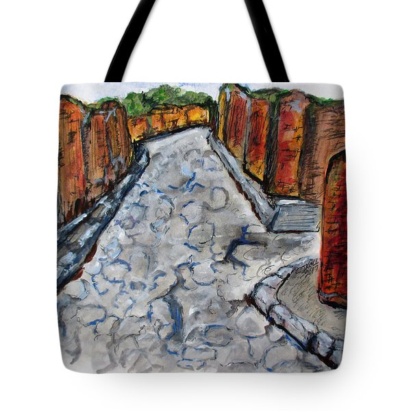 Ancient Street, Pompeii Tote Bag
