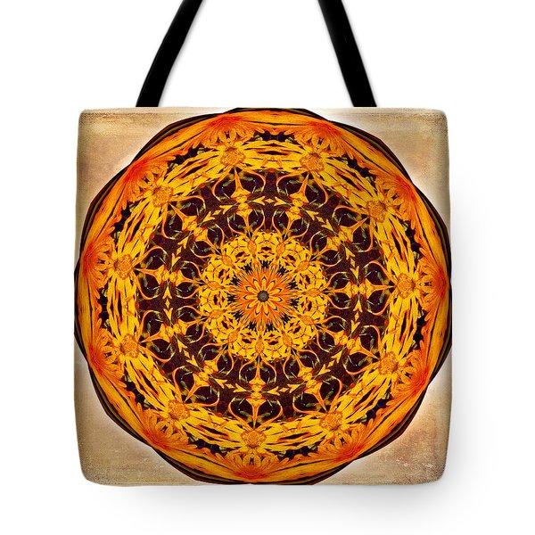 Ancient Sun Kaleidoscope Tote Bag