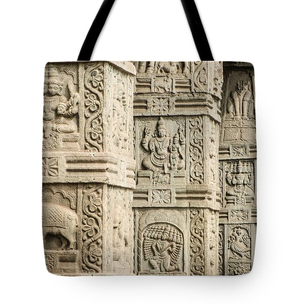 Ancient Temple Carvings Tote Bag