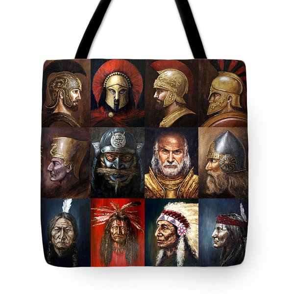 Ancient Warriors Tote Bag by Arturas Slapsys