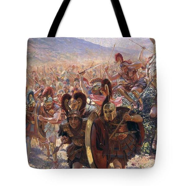 Ancient Warriors Tote Bag by Georges Marie Rochegrosse