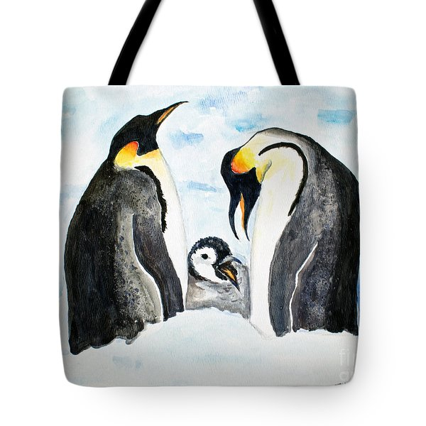 And Baby Makes Three Tote Bag