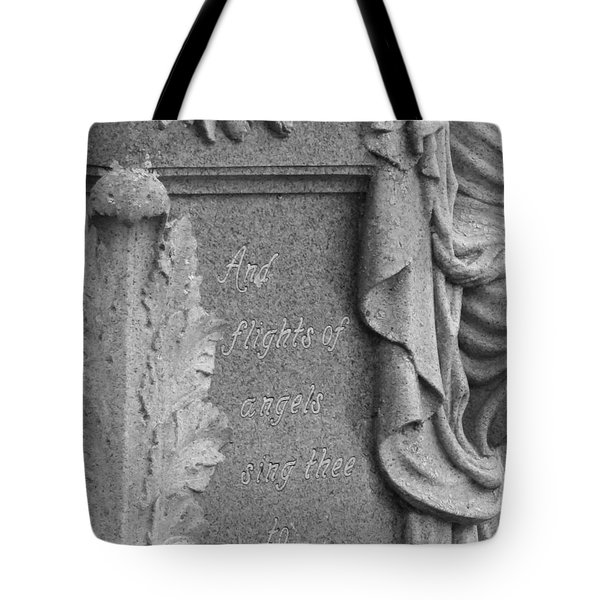 And Flights Of Angels Sing Thee Tote Bag by Robin Regan