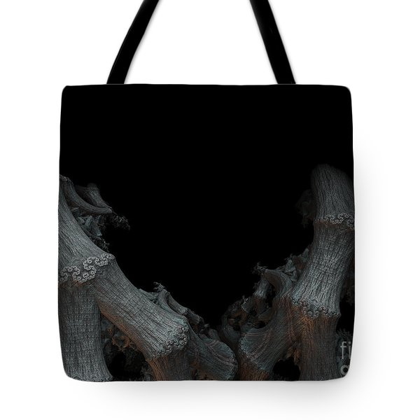 Tote Bag featuring the digital art And From The Darkness Comes by Melissa Messick