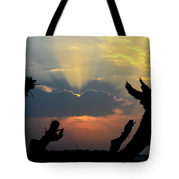 And God Said, Let There Be Light Tote Bag