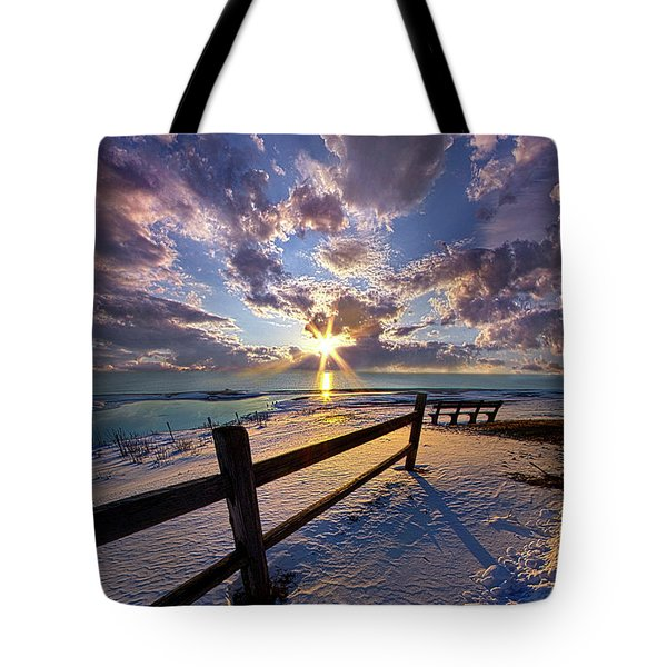 Tote Bag featuring the photograph And I Will Give You Rest. by Phil Koch