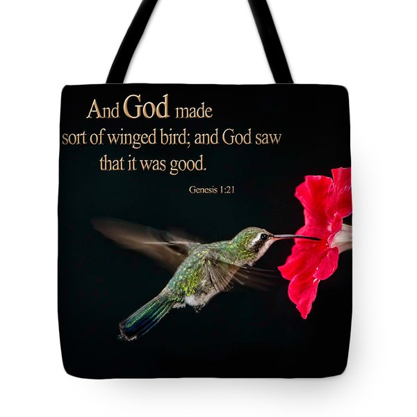 And It Was Good Tote Bag