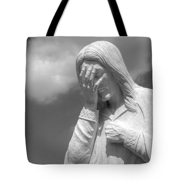 And Jesus Wept II Tote Bag