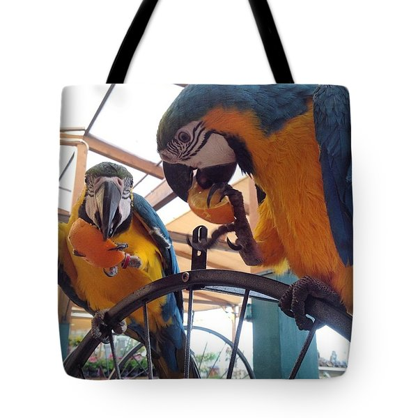 Polly And Friend Tote Bag