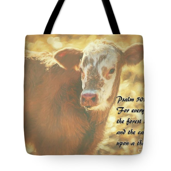 And The Cattle Tote Bag by Janice Rae Pariza