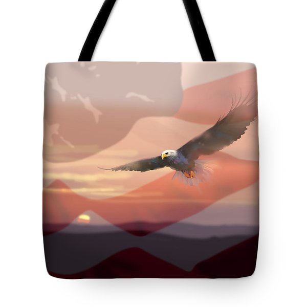 And The Eagle Flies Tote Bag by Paul Sachtleben