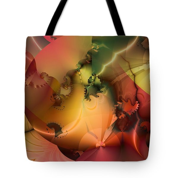 Tote Bag featuring the digital art And The Floodgates Of Heaven Were Opened by Richard Ortolano