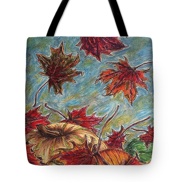 And The Leaves Came Tumbling Down Tote Bag