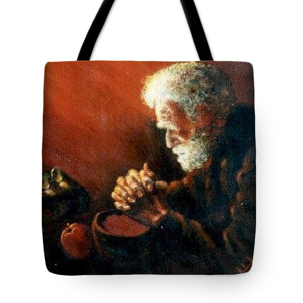 And The Old Man Prayed Tote Bag
