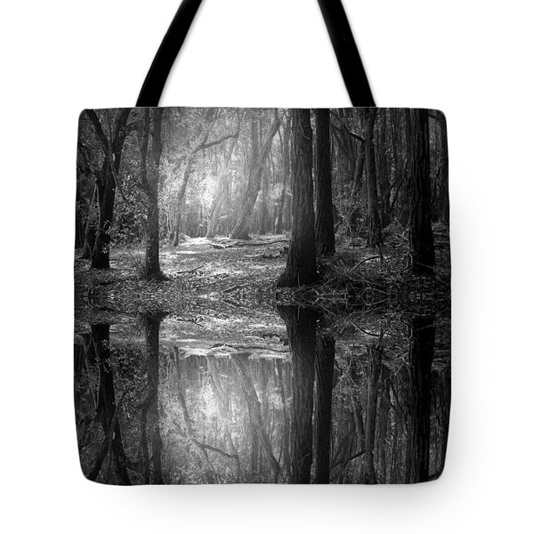 And There Is Light In This Dark Forest Tote Bag
