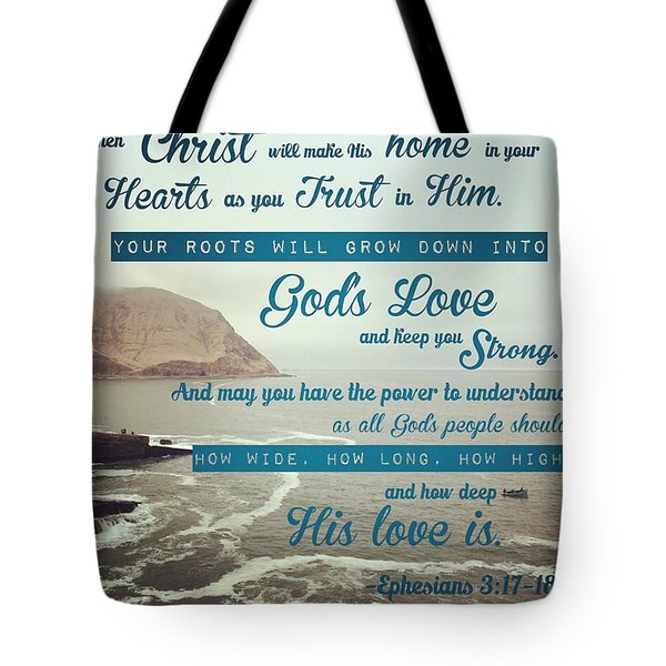 And This Is God's Plan: Both Gentiles Tote Bag