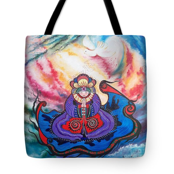 Tote Bag featuring the painting And We Pray by Sigrid Tune