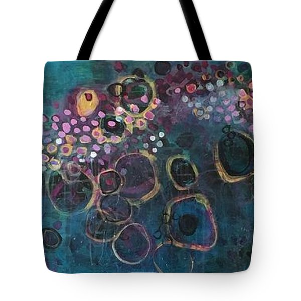 Tote Bag featuring the painting And Yet You Are Loved by Laurie Maves ART