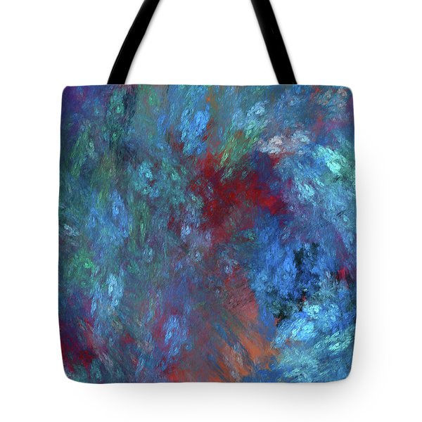 Tote Bag featuring the digital art Andee Design Abstract 1 2017 by Andee Design