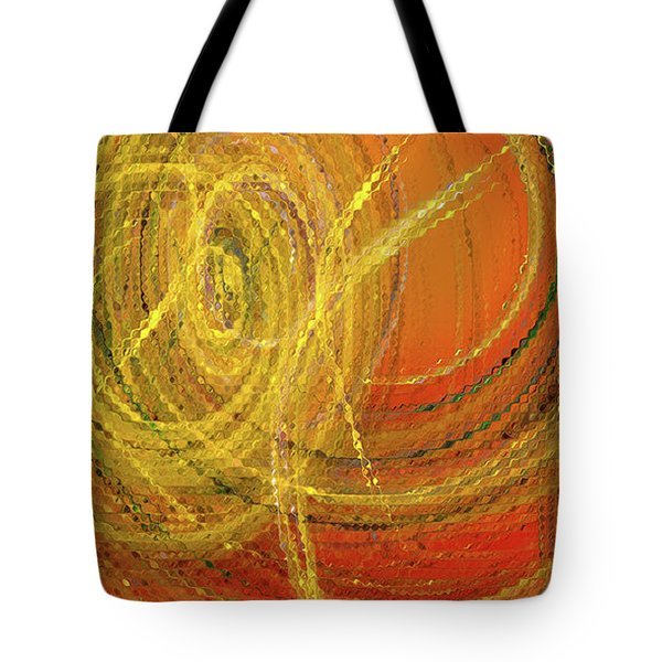 Tote Bag featuring the digital art Andee Design Abstract 10 2017 by Andee Design