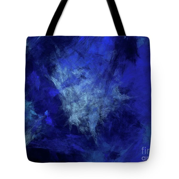 Tote Bag featuring the digital art Andee Design Abstract 10 2018 by Andee Design