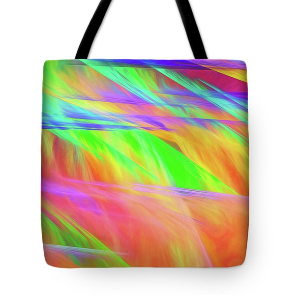 Tote Bag featuring the digital art Andee Design Abstract 11 2018 by Andee Design