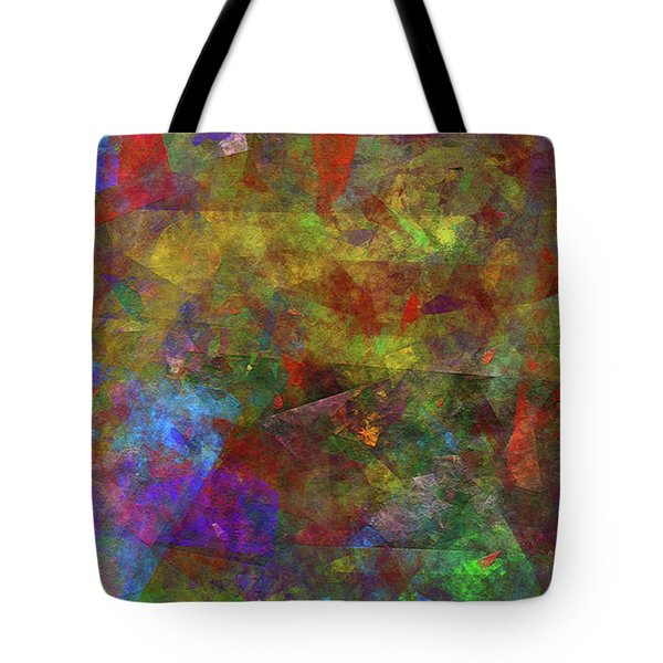 Tote Bag featuring the digital art Andee Design Abstract 12 2017 by Andee Design